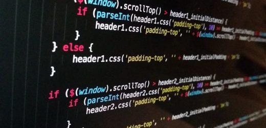 computer screen showing javascript code