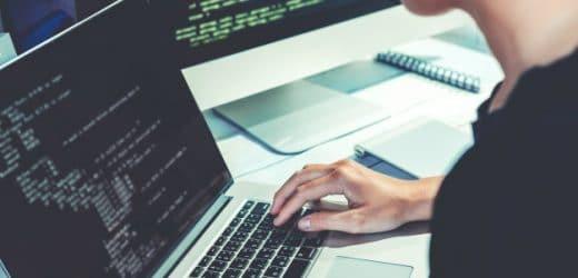 programmer working on codes