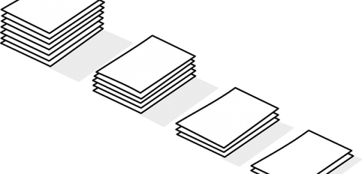 graphic illustration of data files being sorted